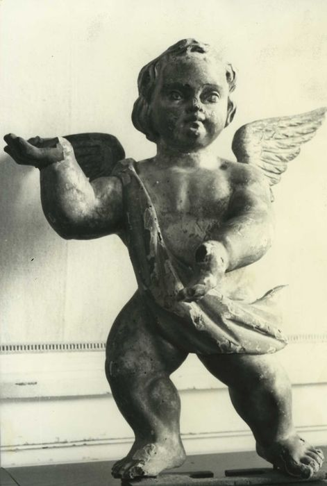 statue (statuette) : Ange, vue partielle