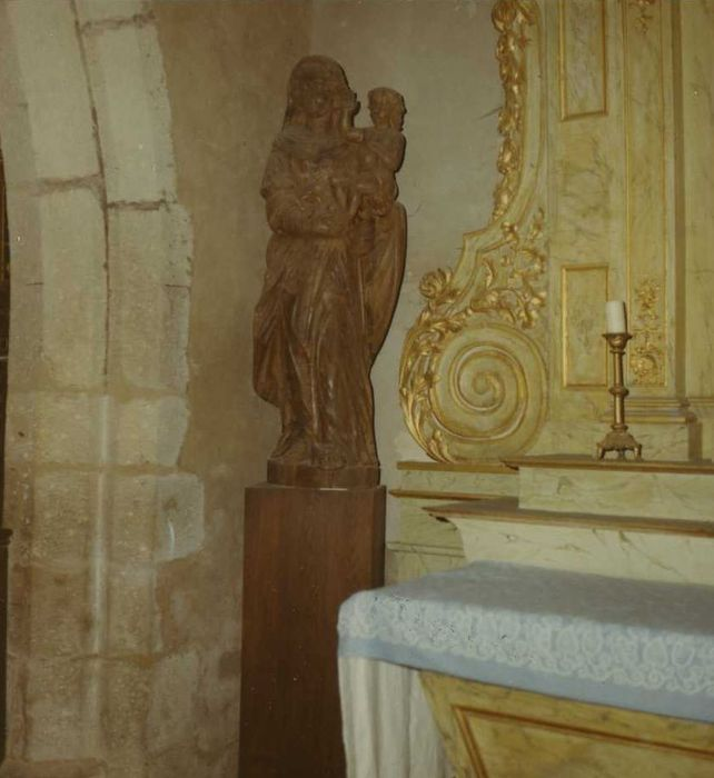 statue : Vierge à l'enfant dite Notre-Dame-de-Vérité, vue générale
