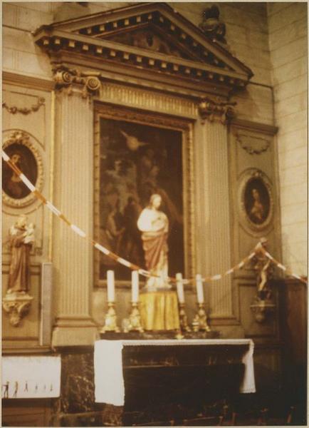 Autel dit de saint Jean-Baptiste, retable, 3 tableaux : Le Baptême du Christ, Le Christ, Marie-Madeleine