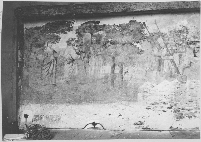 Peinture monumentale : l'Annonce faite aux bergers