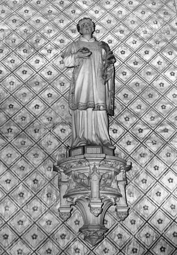 2 statues : Saint Fiacre, Saint Vincent
