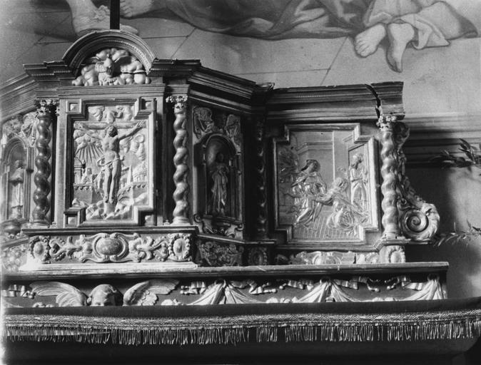 Retable, tabernacle