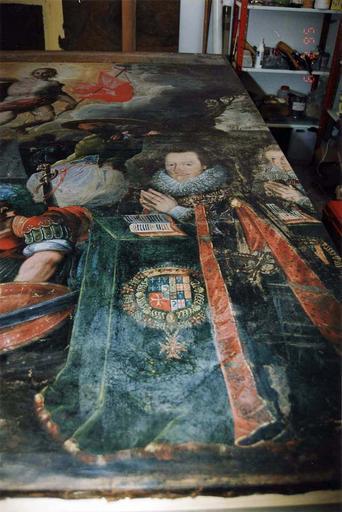 Tableau : la Résurrection, avec des membres de la famille de Bueil