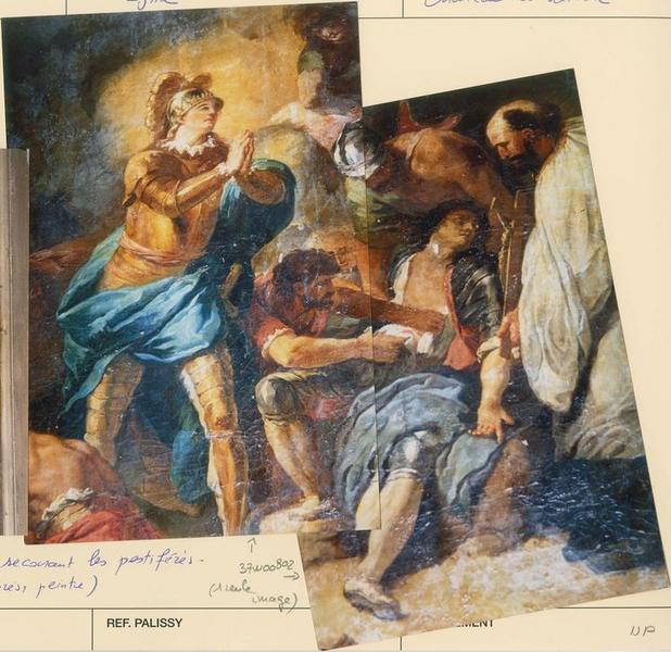 Tableau: saint Louis secourant les pestiférés, vue partielle