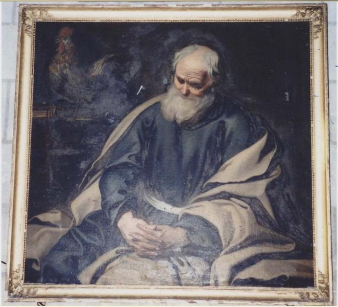 Tableau : le Repentir de saint Pierre, vue générale