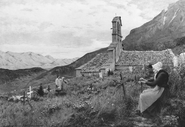 Tableau : La chapelle de Seyssinet Pariset dite de la Tour sans venin, huile sur toile, 1890