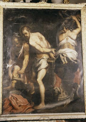 Tableau : Flagellation, huile sur toile