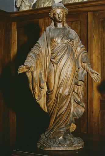 Statue : Vierge, bois