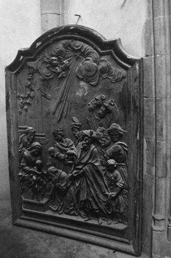Panneau doré de la cathédrale