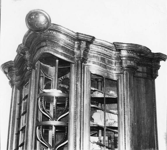 Meuble minéralogique (vitrine), détail