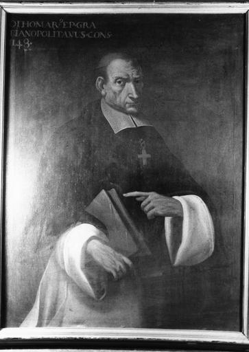Tableau : Othomar, évêque de Grenoble, huile sur toile