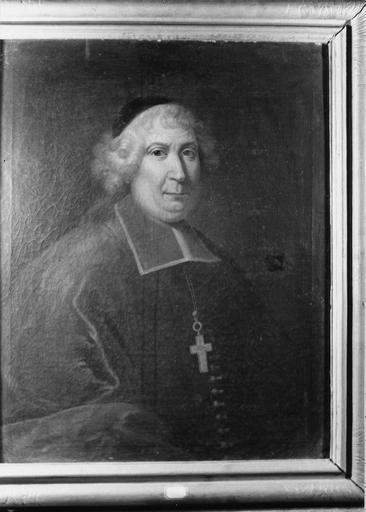 tableau : portrait de Pierre Scarron, évêque de Grenoble, huile sur toile