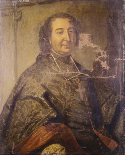 tableau : portrait de Paul de Chaulnes, évêque de Grenoble, huile sur toile