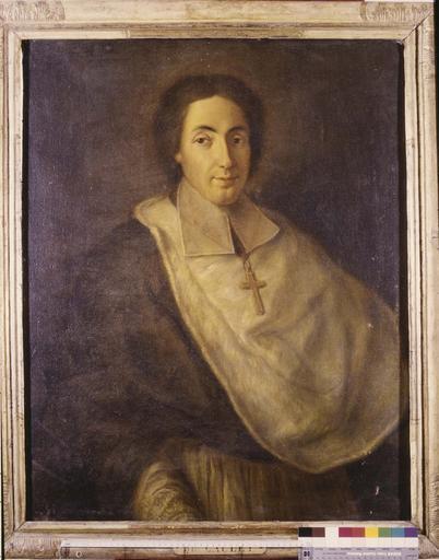 Tableau : portrait de Jean de Caulet, évêque de Grenoble, huile sur toile, vers 1731