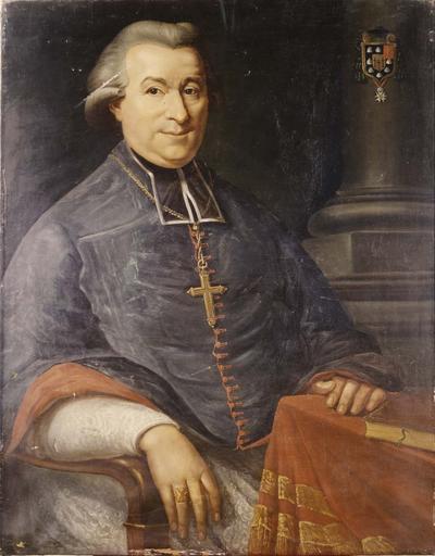 tableau : portrait de Claude Simon évêque de Grenoble, huile sur toile