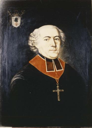 tableau : portrait d'Henri Charles du Lau d'Allemans, évêque de Grenoble, huile sur toile