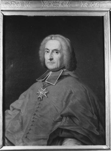 tableau : portrait du cardinal de Tencin, archevêque de Lyon, huile sur toile