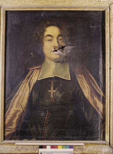 Tableau : portrait d'évêque, huile sur toile