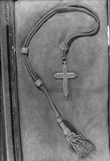 Croix pectorale, cuivre argenté