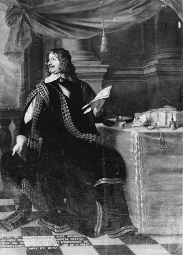 Tableau : portrait d'Abel Servien, huile sur toile