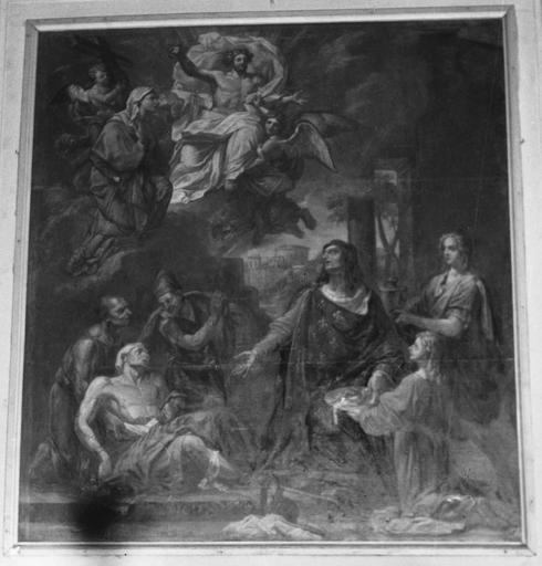 Tableau : saint Louis, huile sur toile