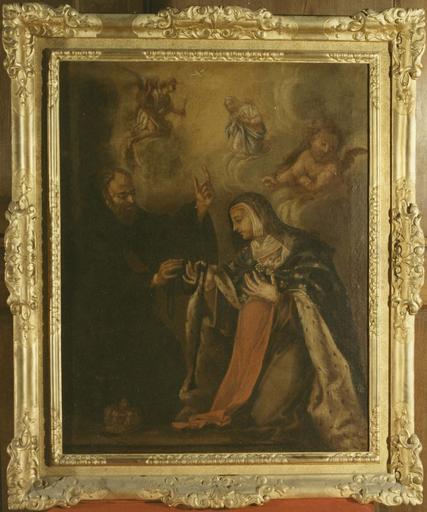 tableau : sainte Jeanne de France et saint François de Paule