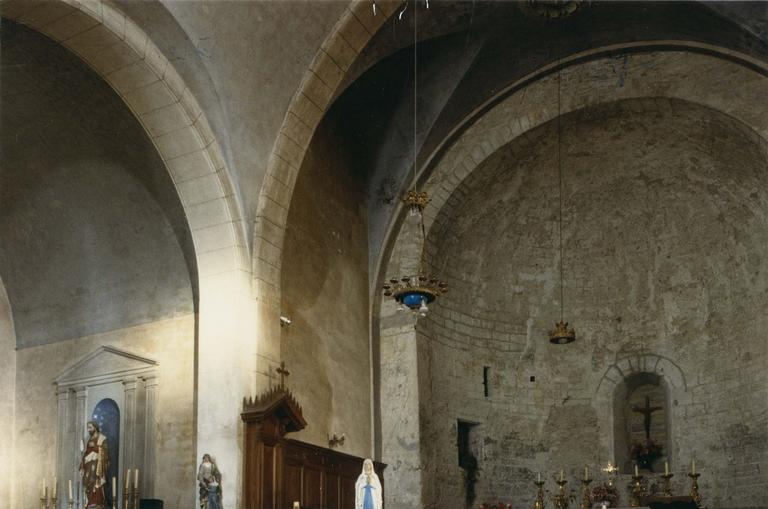 Peinture murale : Les douze apôtres, vue du choeur