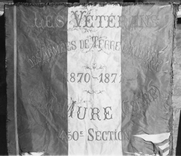 Drapeau des vétérans de 1870-1871, tissus assemblés et peints, après 1871