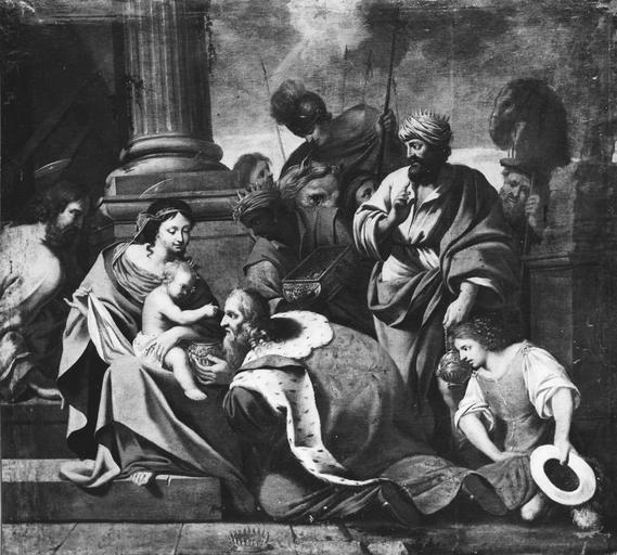Tableau : L'Adoration des mages , huile sur toile