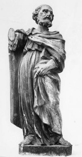 Statue du maître-autel : saint Pierre, bois