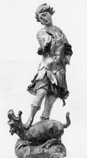 Statue du maître-autel : saint Georges, bois