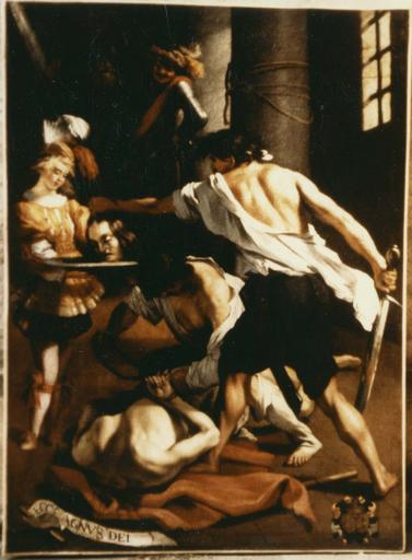 Tableau : La Décollation de saint Jean-Baptiste, huile sur toile, vers 1630