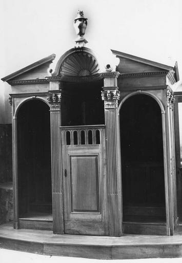 Confessionnal, 6e chapelle sud, noyer