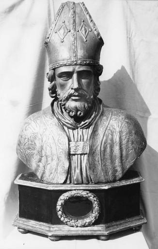 Buste-reliquaire de saint Didier, évêque, bois doré et argenté