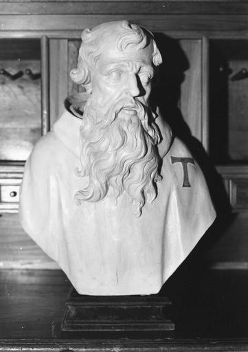 Buste : saint Antoine, bois sculpté repeint