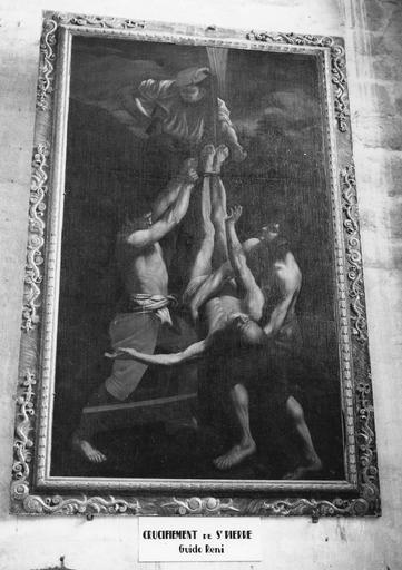 3ème chapelle nord, tableau : Le Crucifiement de saint Pierre