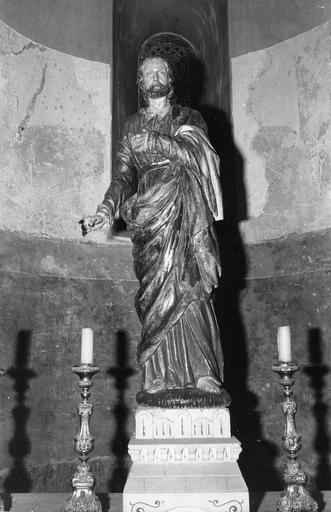 Statue : saint Joseph, bois