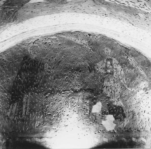 Peinture murale, détail, état des mortiers après dégagement des enduits salpétrés