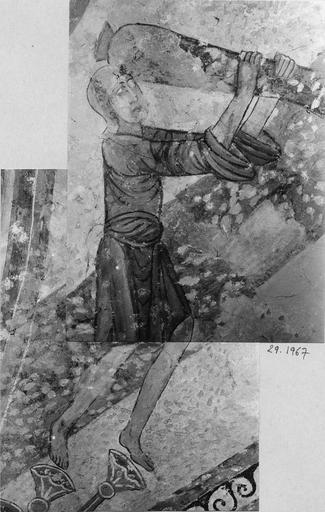 Peinture murale, détail