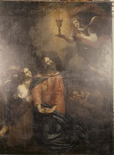 tableau : Le Christ au Mont des oliviers, huile sur toile, 1680
