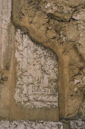 plaque funéraire, pierre calcaire, après 541