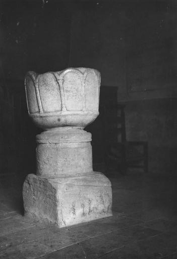 Fonts baptismaux, marbre blanc