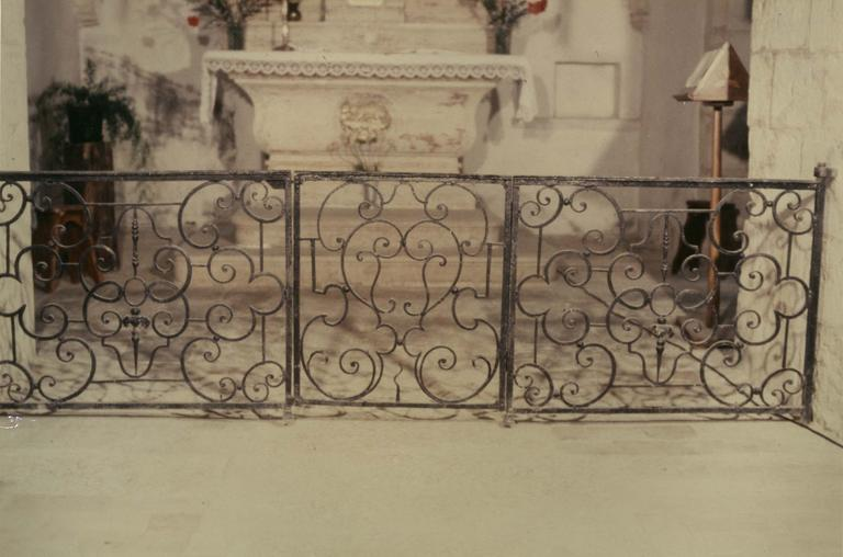 Clôture de choeur (table de communion), fer forgé