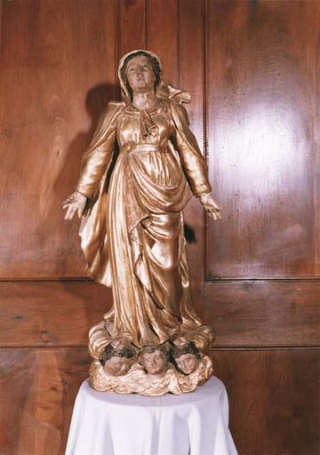 Statue : Vierge de l'Assomption, bois doré