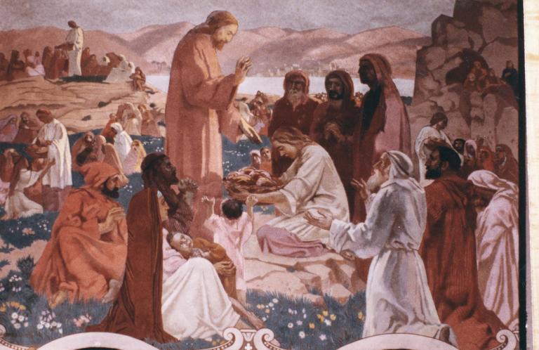 Peinture monumentale : La multiplication des pains, toile marouflée, 1933 et 1939