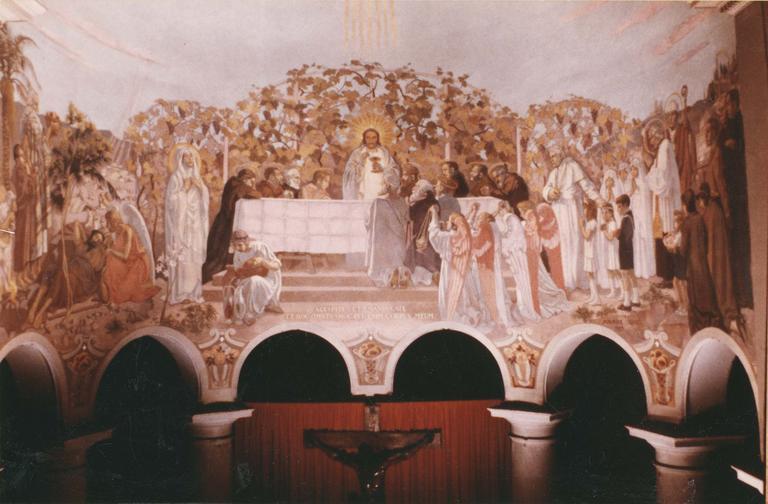 Peinture monumentale : L'Eucharistie, toile marouflée, 1933 et 1940