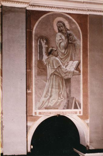 Peinture monumentale : Saint Thomas d'Aquin, toile marouflée, 1933 et 1942