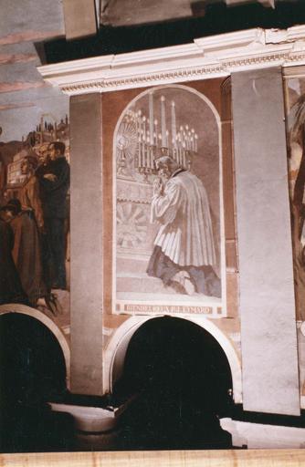 peinture monumentale : Le bienheureux P.J Eymard, toile marouflée, 1933 et 1943