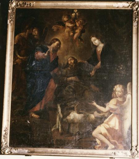 Tableau, cadre : Mort de saint Joseph (la), vue générale
