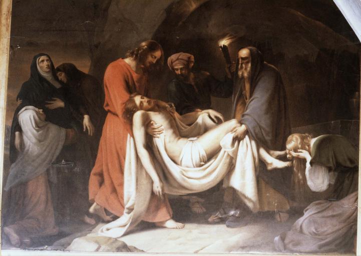 Tableau : Mise au tombeau, huile sur toile, 1832